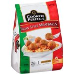 Cooked Perfect Italian Style Dinner Size Meatballs