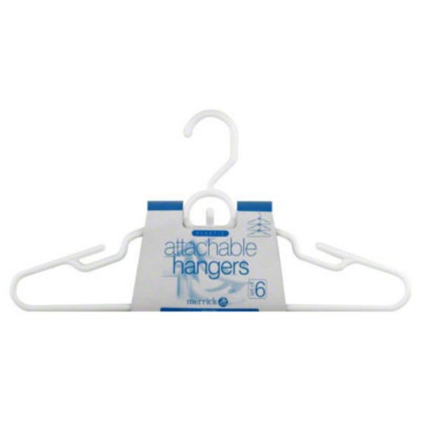 Merrick Hangers, Attachable, Plastic, White