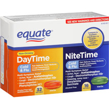 Equate Non-Drowsy DayTime/NiteTime Cold & Flu Softgels