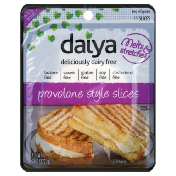 Daiya Deliciously Dairy-Free Slices Provolone Style