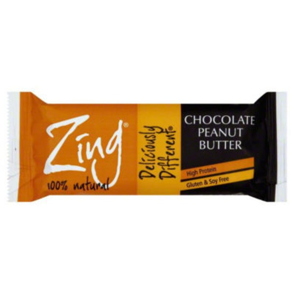 Zing Dark Chocolate Peanut Butter Nutrition Bar
