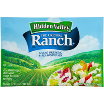 Hidden Valley Original Ranch Salad Dressing & Seasoning Mix 2 Count Box of 1 Ounce Packets
