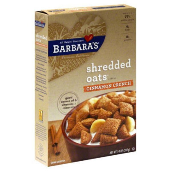 Barbara's Morning Oat Crunch Cereal Cinnamon