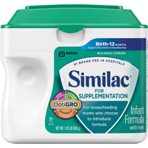 Similac For Supplementation Infant Formula Powder