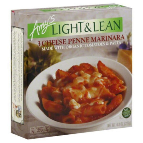 Amy's Light & Lean 3 Cheese Penne Marinara Frozen Entree