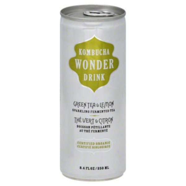 Wonder Kombucha Green Tea & Lemon