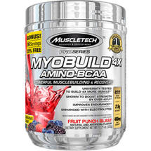 MuscleTech Pro Series Myobuild 4X Amino-BCAA Fruit Punch Blast Dietary Supplement