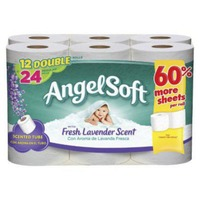 Angel Soft Double Roll White Bathroom Tissue with Fresh Lavender Scent
