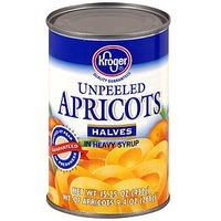 Kroger Unpeeled Canned Apricots
