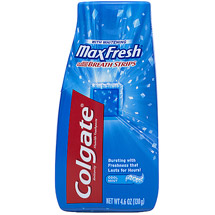 Colgate MaxFresh Cool Mint Toothpaste with Mini Breath Strips