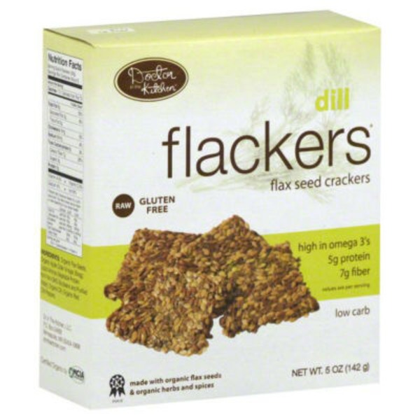 Flackers Doctor in the Kitchen Flackers Organic Flax Seed Crackers Dill