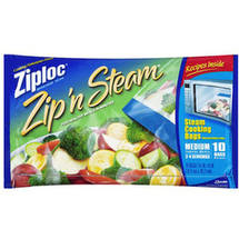 Ziploc Zipn Steam Medium Cooking Bags
