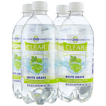 Clear American White Grape Sparkling Water Beverages