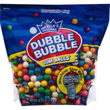 Dubble Bubble Assorted Fruit Flavored Gum Balls
