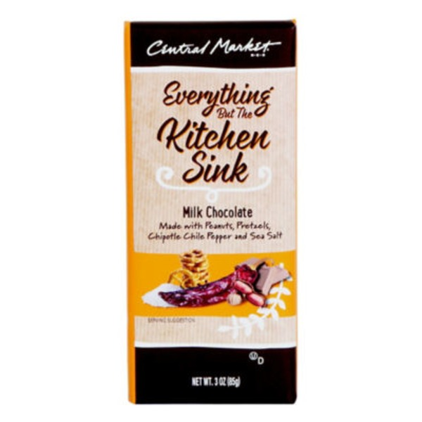 Central Market Everything But The Kitchen Sink Milk Chocolate Bar