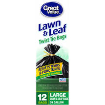 Great Value Twist Tie Lawn & Leaf Bags
