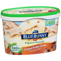 Blue Bunny Caramel Praline Crunch Frozen Yogurt