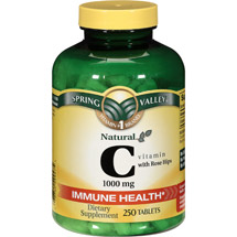 Spring Valley Natural C Vitamin with Rose Hips Dietary Supplement