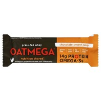 Oatmega Grass-Fed Whey Protein Bar Chocolate Peanut