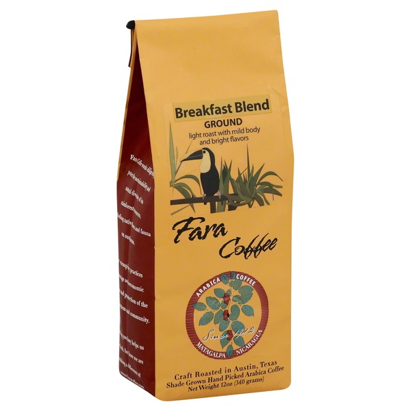 Fara Cafe Coffee Coffee, Ground, Light Roast, Breakfast Blend