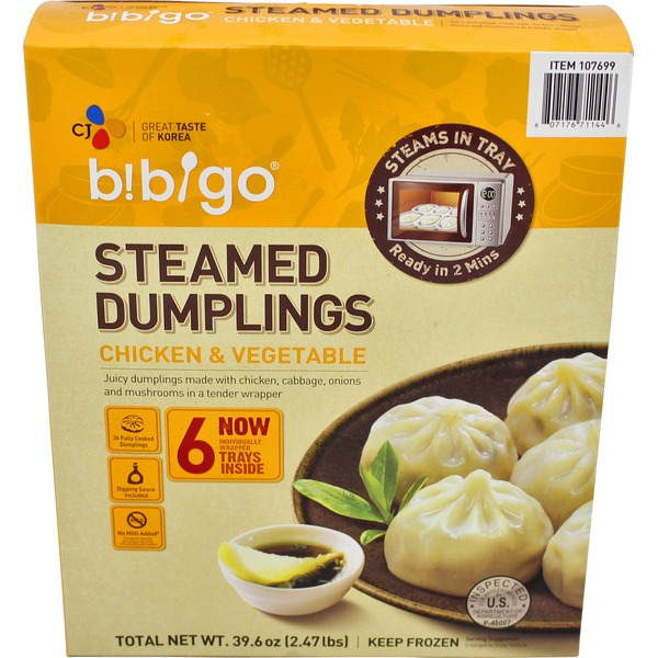 Bibigo Steamed Chicken & Veggie Dumplings