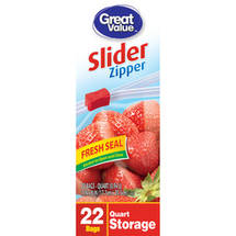 Great Value Storage Zip Close Quart Size Bags