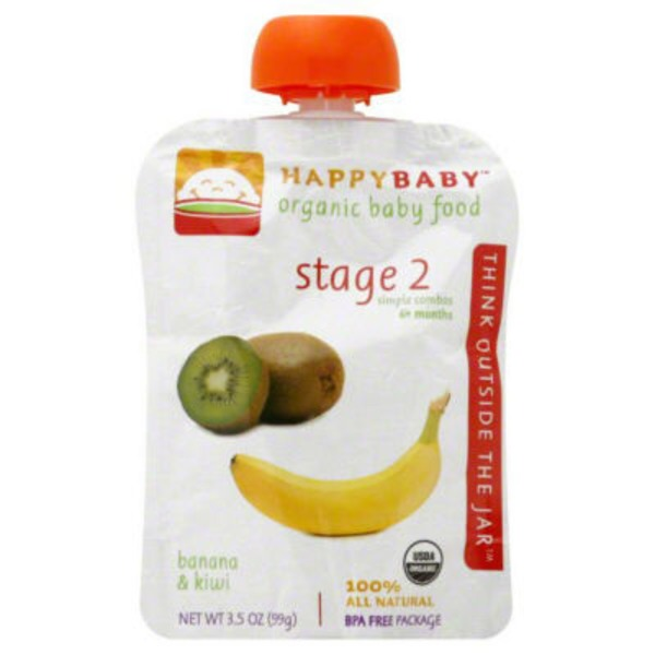 Happy Baby/Family Simple Combos Bananas, Kiwi & Spinach Organic Baby Food