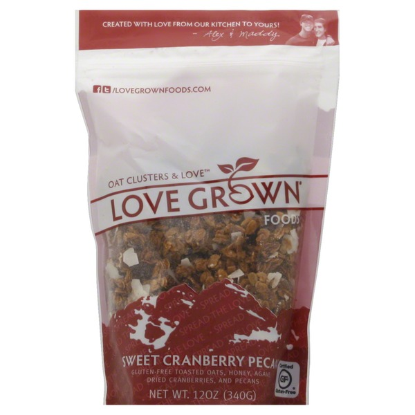 Love Grown Oat Clusters & Love, Sweet Cranberry Pecan