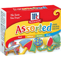 McCormick Assorted Food Colors And Egg Dye 4 Ct/1 Fl oz
