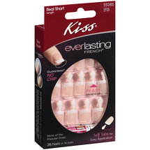 Kiss Everlasting Real Short Length French Nails Pearl White Tip