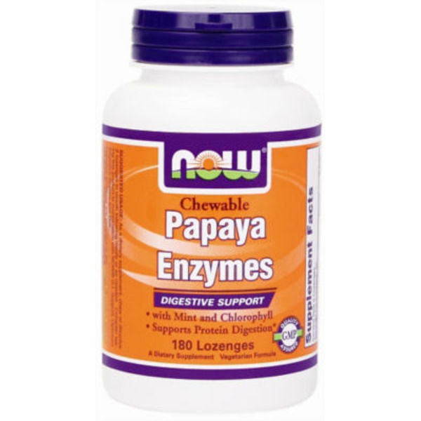 Now Chewable Papaya Enzyme Losenges