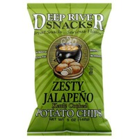 Deep River Snacks Kettle Cooked Potato Chips Zesty Jalapeno