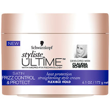 Schwarzkopf Styliste Ultime Satin Frizz Control & Protect Heat Protection Straightening Style Cream