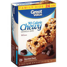 Great Value Chocolate Chunk 90 Calorie Chewy Granola Bars