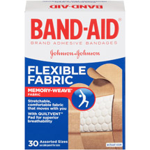 BAND-AID Adhesive Bandages Flexible Fabric Assorted