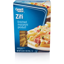 Great Value Ziti Pasta