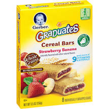 Gerber Graduates Fruit & Cereal Bars Strawberry Banana 5.5 Oz