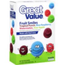 Great Value Fruit Smiles Tropical Fruit