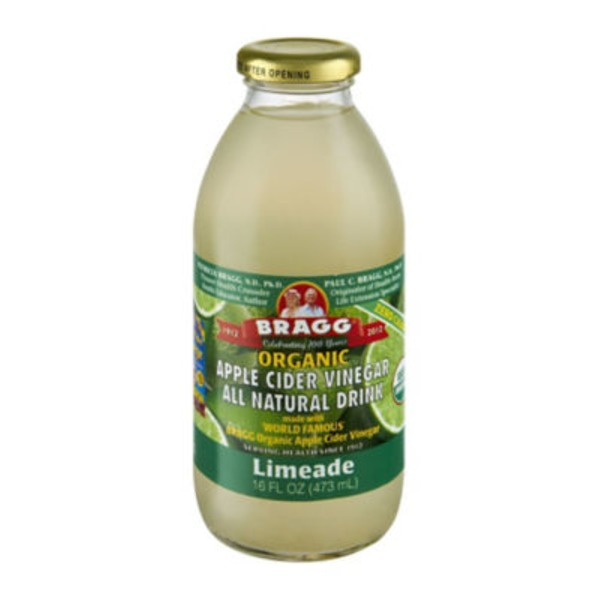 Bragg Organic Apple Cider Vinegar Limeade All Natural Drink