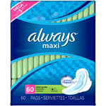 Always Unscented Maxi Pads with Wings Long/Super