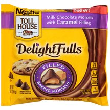 Nestle Toll House DelightFulls Milk Chocolate with Caramel Filling Baking Morsels