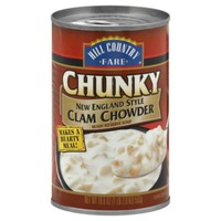 Hill Country Fare Chunky New England Style Clam Chowder Soup