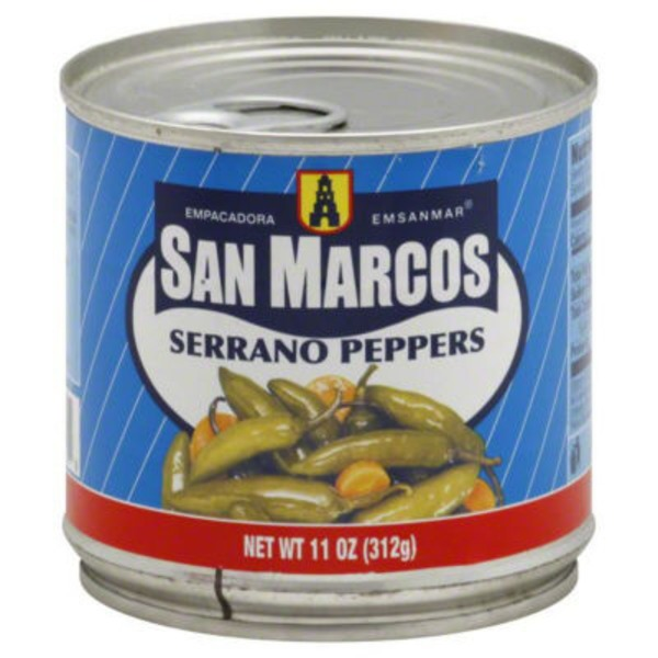 San Marcos Serrano Peppers, Can