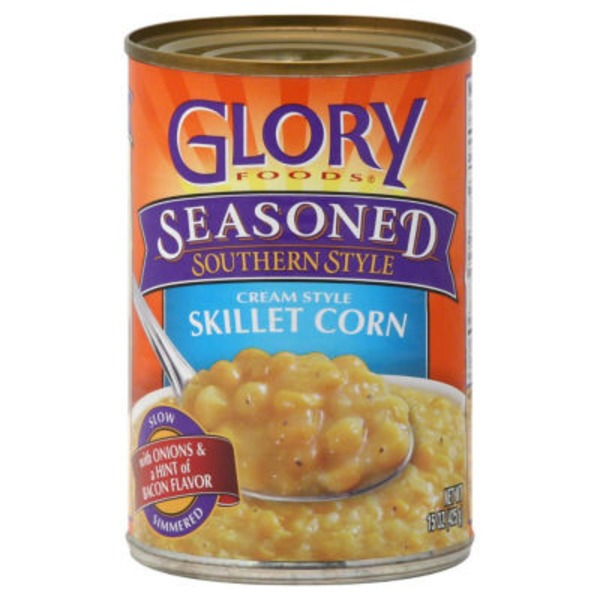 Glory Foods Cream Style Skillet Corn Seasoned Southern Style