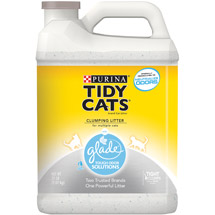 Purina Tidy Cats Clumping Cat Litter with Glade Tough Odor Solutions for Multiple Cats