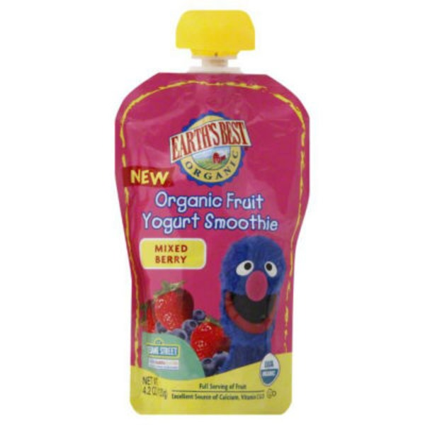 Earth's Best Organic Organic Fruit Yogurt Smoothie Mixed Berry