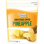Great Value Sweetened Dried Pineapple