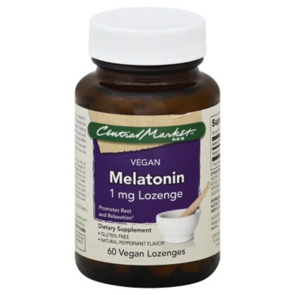 Central Market Vegan Melatonin 1mg Lozenges