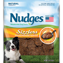 Nudges Beef and Cheese Sizzlers Dog Treats