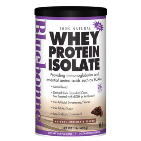 Bluebonnet Nutrition Natural Chocolate Flavor Whey Protein Isolate